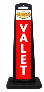 El Cholo Red Valet Sign