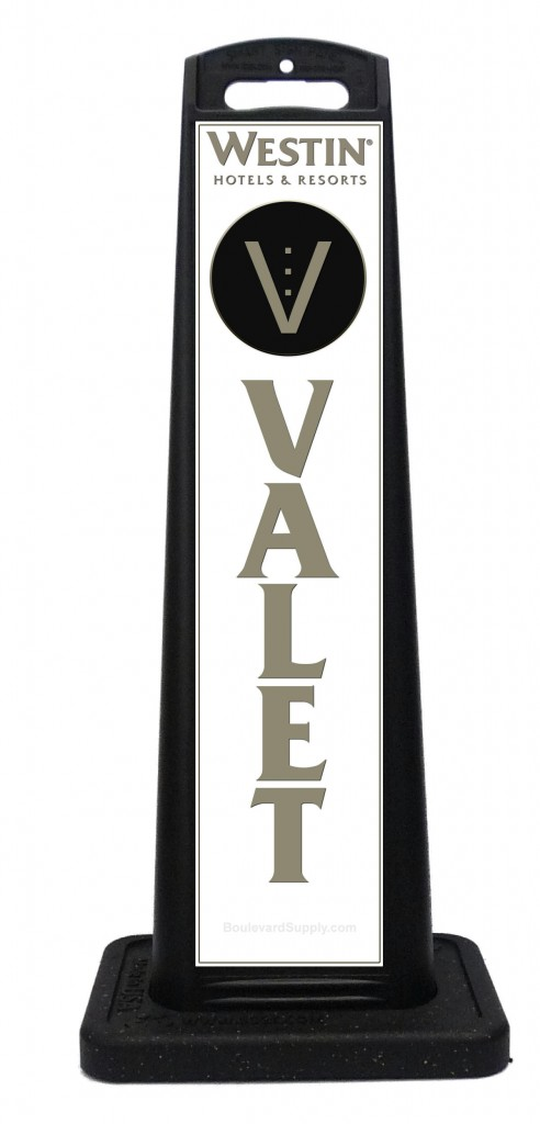 Westin Hotels and Resorts Valet Sign Sample
