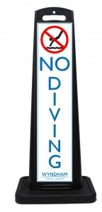 Wyndham Desert Blue No Diving Sign Las Vegas