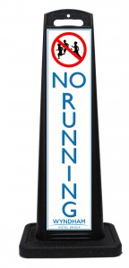 Wyndham Desert Blue No Running Sign Las Vegas