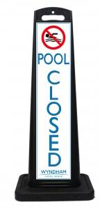 Wyndham Desert Blue Pool Closed Sign