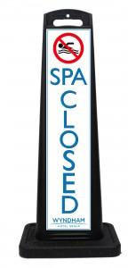 Wyndham Desert Blue Spa Closed Sign Las Vegas