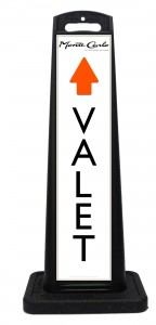 Monte Carlo Thru Lane Valet Parking Signs