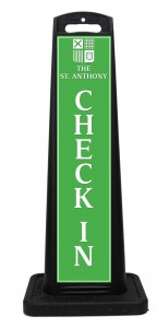 St Anthony Hotel Check In Sign