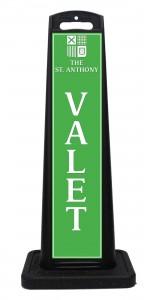 St Anthony Hotel Valet Sign