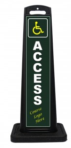 Portable Handicap Access Sign For Golf Course