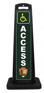 NPS National Park Service Handicap Access Sign