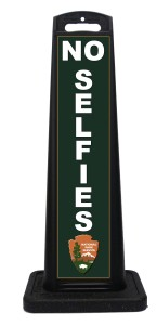 NPS National Park Service No Selfies Sign