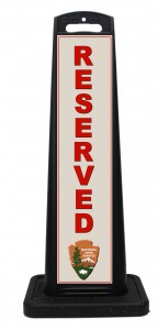 NPS National Park Service Reserved Sign