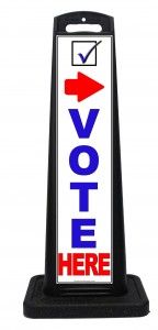 Portable Outdoor Vote Here Signs