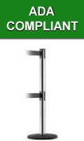 ADA Compliant Two Belt Stanchions