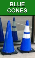 28 Inch Blue Traffic Cones for Valet and Parking Lot