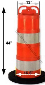 Cortina 03-755 EZ Grab Wide Body Delineator Orange Barrel