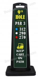 Portable Golf Hole Par Yards Sign