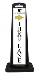 Thru Lane Valet Sign