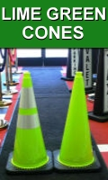 MUTCD Compliant JBC Lime Green Traffic Cones