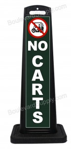 Portable No Carts Sign For Golf Course