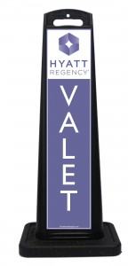 Hyatt Regency Valet Sign