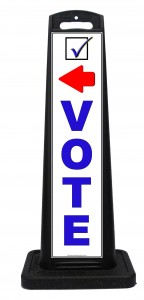 Portable Outdoor Vote Today Signs