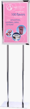 14x22 Lollipop Sign Holder Poster Stand