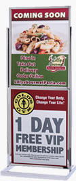 22x28 Double Frame Sign Holder Poster Stand