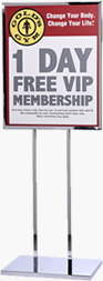 22x28 Lollipop Sign Holder Poster Stand