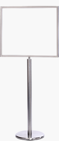 28x22 Horizontal Portrait Sign Stand