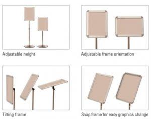 Adjustable Tilting Sign Stand SS100
