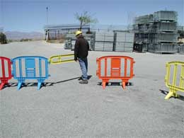 Plastic Crowd Control Barricades