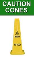 Yellow Caution Cones