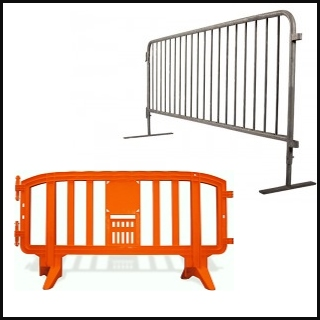 Steel Plastic Crowd Barricades