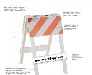 Type 1 Barricades Cortina Plastx Traffic Control Barricade