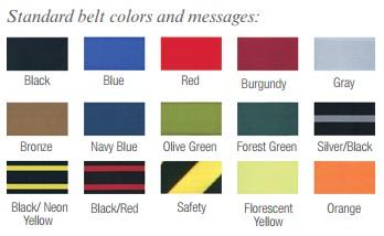 Beltrac Tempest Retractable Stanchion Belt Color Options