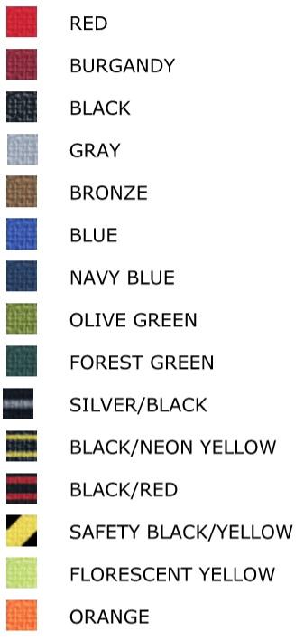 Beltrac 3000 Stanchion Belt Color Options