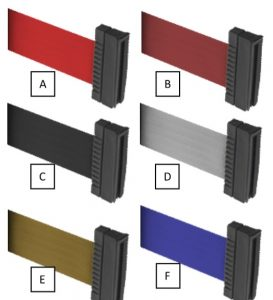 Beltrac 3000 Stanchion Belt Colors