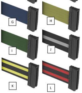 Beltrac 3000 Stanchion Belt Options