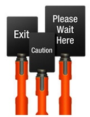 Beltrac Tempest Outdoor Stanchions Signs