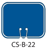Blank Blue Traffic Cone Signs