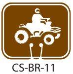 Park Service Brown ATV Trails Area Traffic Cone Signs