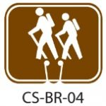 Park Service Brown Hiking Backpacking Trail Traffic Cone Signs