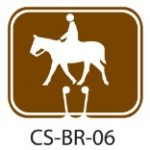 Park Service Brown Horseback Riding Trail Traffic Cone Signs
