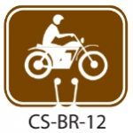 Park Service Brown Motorized Vehilce Trail Traffic Cone Signs