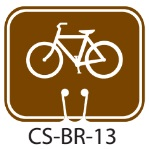 Park Service Brown Mountain Bike Biking Trail Traffic Cone Signs