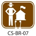Park Service Brown Ranger Station Traffic Cone Signs