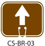 Park Service Brown Go Straight Forward Traffic Cone Signs