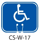 Blue Handicap Symbol Traffic Cone Signs
