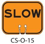 Orange SLOW Traffic Cone Signs