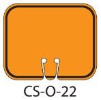 Blank Orange Traffic Cone Signs