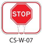 Red White STOP SIGN Traffic Cone Signs