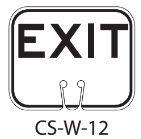 White EXIT Traffic Cone Signs